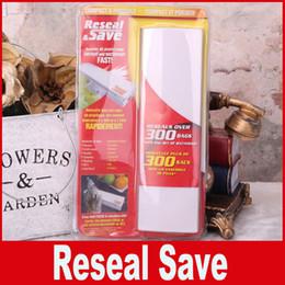 Wholesale Home Food Sealing Machines - Food Vacuum Sealer Save Home Portable Reseal Keep Food Moistureproof Speed sealing machine for Food Plastic storage bags