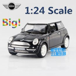 Wholesale Mini Cooper Toy Model Cars - Free Shipping 1:24 Scale Mini Cooper Educational Model Classical Limited Pull back Diecast Metal toy For Kid Collection Gift