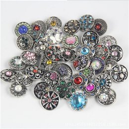 Wholesale Channel Flower - Free Shipping Newest Fashion 12Pcs Lot Silver Gold Press Buttons Fit DIY Snap Bracelets Flower Mixed 18mm Hot Sale without Snap Bracelets