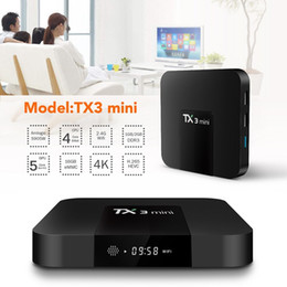Wholesale Hd Android 16gb - 10pcs TX3 mini Android 7.1 TV BOX 2GB 16GB 1GB 8GB Amlogic S905W QuadCore Suppot H.265 4K 30tps Media Player