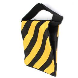 Trípode boom online-1pc Lienzo Doble estudio fotográfico Contador Equilibrio Peso Bolsas para Flash Light Stand Boom Trípode amarillo y negro