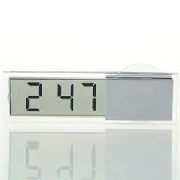 Horloge électronique en Ligne-K-033 Voiture Horloge électronique Affichage à cristaux liquides LCD Minuterie de voiture Horloge numérique avec ventouse