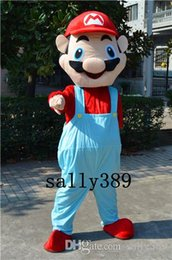 Wholesale Super Mario Costume Make - 2017 Super Mario cartoon high quality mascot costume Super Mario game adult size fancy dress party carnival parade free shipping Factory dir