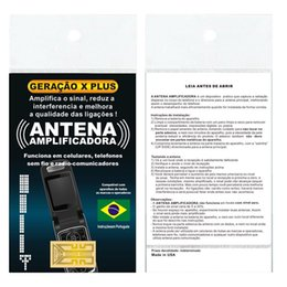 Wholesale Wholesale Cell Boosters - Generation X Plus X-Plus New Shiny Cell phones Signal antenna amplifier booster sticker in Portuguese Packing by free shipping 100pcs lot