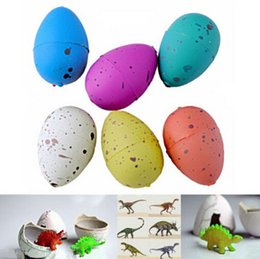 Wholesale Dino Boy - Wholesale-6PCS Magic Water Growing Dino Egg Hatching Colorful Dinosaur Add Cracks Grow Eggs Cute Children Kids Toy For Boys