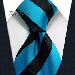 Wholesale Classic Woven - Wholesale Free Shipping Blue Black Classic Mens Tie 100% Silk New Jacquard Woven Necktie