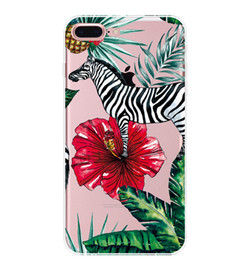 Wholesale Zebra Iphone Case Wholesale - Creative Zebra Phone Case For Iphone 6 6s 6Plus 7 7 Plus Soft TPU protective Shell Back Cover