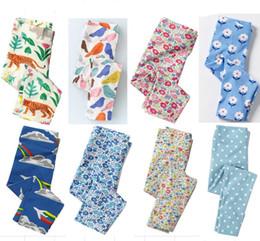 Wholesale Flower Print Leggings Girls - Hotsale Leggings Pant for girl Flowers Full Printed Tights Cotton Spandex Girls clothing 2017 Autumn Spring 18months-6T Free DHL shipping