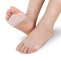 Wholesale Health Care Wholesale - Soft Silicone Gel Toe Pads High heel shock absorption anti Slip-resistant metatarsal foot Pad Forefoot Pad Feet Pain foot Health Care pad