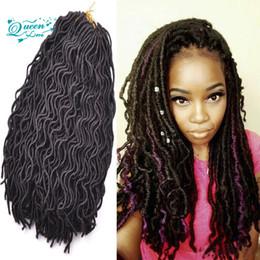 Wholesale Braided Water - Afro Crochet Water Dreadlocks Hair Synthetic Crochet Braiding hair Havana Twist 18 inch kanekalon Fiber Faux Locs 24roots lot