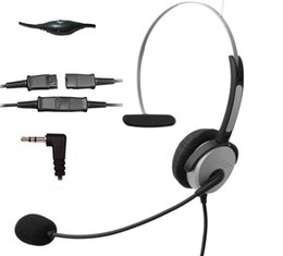 Wholesale Flexible Headbands - Call Center Telephone Headset Noise Cancelling Headphone with Flexible Microphone for Cisco Linksys Polycom Panasonic DECT Cordless and Cel