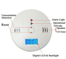 Wholesale Smoke Alarms Wholesale - Household Carbon Monoxide Gas Alarm CO Smoke Detector Portable CO Carbon Monoxide Poisoning Gas Sensor With LCD Display