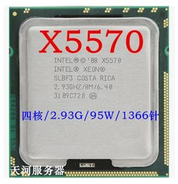 Wholesale Quad Cpu Server - Wholesale- X5570 processor 2.93GHz 8MB 6.4GT s Quad-Core LGA1366 Server CPU