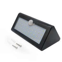 Wholesale Black Pir Sensor - PIR Solar Powered Outdoor Motion Sensor Security 38LED Light IP65 Waterproof & Heatproof Garden Wall Lighting Lamp (Black)