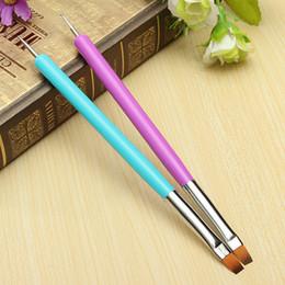 Wholesale Nail Art Pen Polish Brush - Wholesale- 2016 Hot Selling NEW 2-Ways Nail Art Pen Painting Dotting Acrylic UV Gel Polish Brush Liners Tool 5W4S 7GXO AV3I
