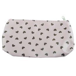 Estuche rígido bolsa de cosméticos online-Bolsa de cosméticos Sweet Heart al por mayor- Bolsa de maquillaje Estuche rígido - Rosa