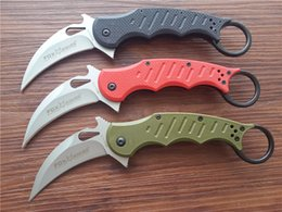Wholesale Dull Knife - Fox Knives Trainer Karambit Folder Knife Black Pink Red G-10 Handle camping knives 479 DULL and sharp are available