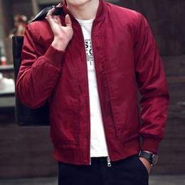 Wholesale Classic Casual Jacket Men - Wholesale- 2016 New Men Jackets Classic Spring Autumn Jacket Men Warm Comfortable Slim Coat 4 Colors Choice Men's Clothing Drop Shipping