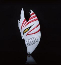 Wholesale Bleach Resin - 1pcs lot Kurosaki Ichigo Masks Halloween Half Face BLEACH Party Cosplay Mask For Collection