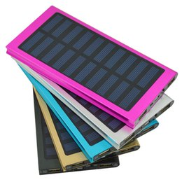 Wholesale Mobile Solar Charger For Laptop - Portable Solar Charger Power Bank Panel 20000mah Mumbo-jumbo solar mobile power ultra-thin polymer mobile power charging treasure