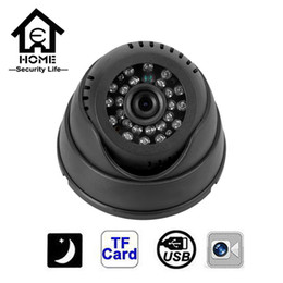 Wholesale Dome Camera Micro Sd - CCTV Camera 420TVL Night Vision 24 IR LED Micro TF SD Card Recording Dome Security Camera All on one Home Security System