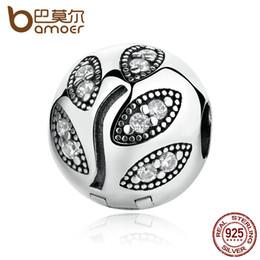 Wholesale Clip Fine - Wholesale Pandora Style 925 Sterling Silver Wonderful LEAVES CLIP Charms fit Bracelets Fine Jewelry PAS351