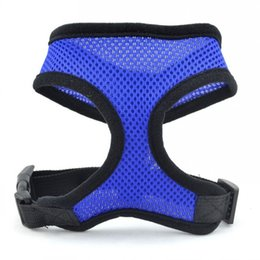 Wholesale Wholesale Puppy Supplies - Fashion Adjustable Strap Vest Soft Breathable Dog Harness Nylon Mesh Vests Collars Durable Puppy Supplies High Quality 3 5gr B