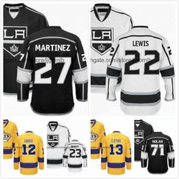 Wholesale Hockey Jerseys La 23 - Trevor Lewis Jersey 22 Kyle Clifford 13 Dustin Brown 23 Jordan Nolan 71 Marian Gaborik 12 Alec Martinez 27 Ice Hockey Jerseys LA Kings S-3XL