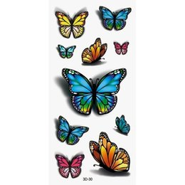 Wholesale Tattoos Colorful Sleeves - Wholesale- 1pcs Beauty Waterproof Temporary 3D Tattoo Body Sticker Tattoo Water Transfer Sexy Colorful Style Tattoo Sleeve For Girl Women