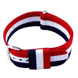 Wholesale Cheap Ribbon Band - Wholesale-Excellent Quality Cheap Nylon Straps Casual Sport 20mm Wrist Watch Band New Style Multi Color Watchband Wrist Band