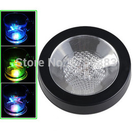 Wholesale Change Shipping - Wholesale-Free shipping 5PCS Lot High Quality Colorful Changing LED Light Drink Glass Bottle Cup Coaster Mat Bar Party Xmas Gift