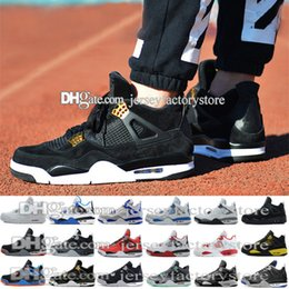 Wholesale Buy Thread - New Retro 4 mens Basketball Shoes Sports Sneakers Buy 2017 Men Retros 4s Man Zapatillas Authentic Original Real Replicas SIZE 41-47 US 8-13
