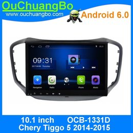 Wholesale Chery Tiggo Radio - Ouchuangbo 10.1 inch car multimedia kit for Chery Tiggo 5 2014-2015 with gps navigation bluetooth swc