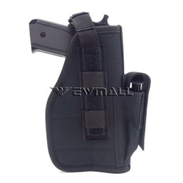Wholesale Holster Tactical Glock - Universal Tactical Right Hand Belt Gun Holster with Mag Pouch Fits Most Pistols Revolvers For LCP LC9 PF9 USP PX4 For Glock 17
