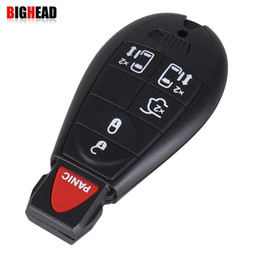 Wholesale Smart Car Key Blank - car BIGHEAD 6 Button remote Smart key blank with small key and windows button fob key case shell for Chrysler Jeep Dodge