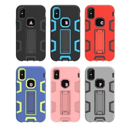 Wholesale Red Rose Palace - Palace Defender Hybrid Case For Iphone X 5.8inch Shockproof Kickstand Hard Plastic+Soft TPU Holder Layer Armor Cover Heavy Duty Protection