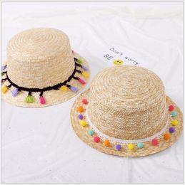 Wholesale Wholesale Yarn Products - Hawaii shade beach beach, color hair ball grass hat, New Handmade hat, small fresh style female, Korean summer single product