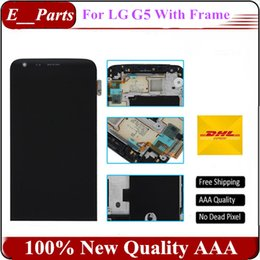 Wholesale G5 Free Shipping - Original Grade AAA For LG G5 LCD H850 H840 LCD Display with Touch Screen Digitizer Assembly With Frame replacement Fast Free Shipping