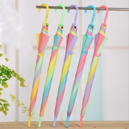 Wholesale Holiday Frosting - clear transparent umbrella EVC long handle rain sun beach rainbow fashion frosted umbrellas summer holidays children gifts popular