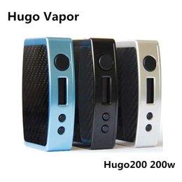 Wholesale E Ciagrette - Original Hugo Vapor Hugo200 200W TC Box Mod Dual 18650 battery 510 thread E Ciagrette Vape Mod