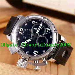 Wholesale Stainless Steel Top Grade Automatic - Luxury Brand Sport Automatic Men's watch Stainless Steel Case Big Black Dial Leather Strap Top grade Casaul Mans watches