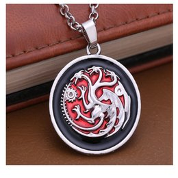 Wholesale Gold Dragon Pendants For Men - Game of Thrones Necklace Song of Ice and Fire Vintage Targaryen Dragon Pendant for Men and Women Jewelry Accessory Wholesale