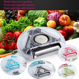 Wholesale Cucumber Fruit - Multi-functional rotation of fruit and vegetable peeler,fruit and vegetable peeling knife,potato curling machine,cucumber carrot peeling.