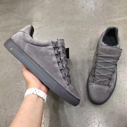 Wholesale Top High Cut Shoe Brands - New Items Grey Suede Lot Cut Male Sneakers Skate Shoes Arena Sneakers BL brand Top Luxury Junior Sneakers Walking High Quality