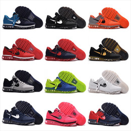 Wholesale Patchwork Cushions - 2017 New Cheap Men Women Running Shoes Air Cushion 2017 KPU Sneakers High Quality Plastic Surface Ourdoor Sports Shoes Size US 5.5-13