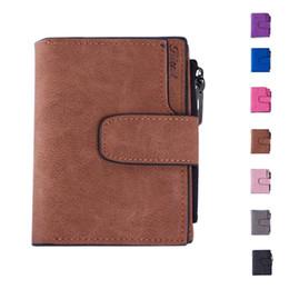 Wholesale Coin Snap Wallet Women - S5Q Women's Vintage Casual Snap Fastener Zipper Matte Wallet Short Clutch Wallet AAAGKP