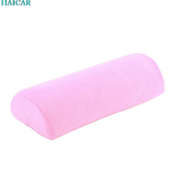 Wholesale Art Towel - Wholesale- Soft Nail Art Hand Holder Cushion Pillow Nail Arm Towel Rest Manicure Makeup Cosmetic Tools feb16