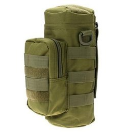 Wholesale Military Outdoor Water Bottle - 2017 Water Bottle Pouch Military Bottle Bag Molle Water Zipper Bottle Pouch Outdoor For Hiking Traveling
