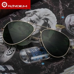 Wholesale Mirror Aviator Mirrored - EUROEN Vintage Pilot Aviator Sunglasses 62mm Fashion Men Women UV400 Band Polarized Gafas Mirror Lenses Sun Glasses with cases