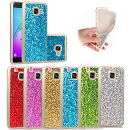 Wholesale Bling Rubber Iphone Cases - Glitter Bling Soft TPU Gel Case For Iphone X IphoneX Samsung Galaxy A310 A510 J510 J710 Fashion Sparkle Rubber Cell Phone Skin Cover 100pcs